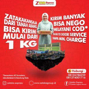 Cargo murah dari tanah abang ke seluruh Indonesia|zataka express
